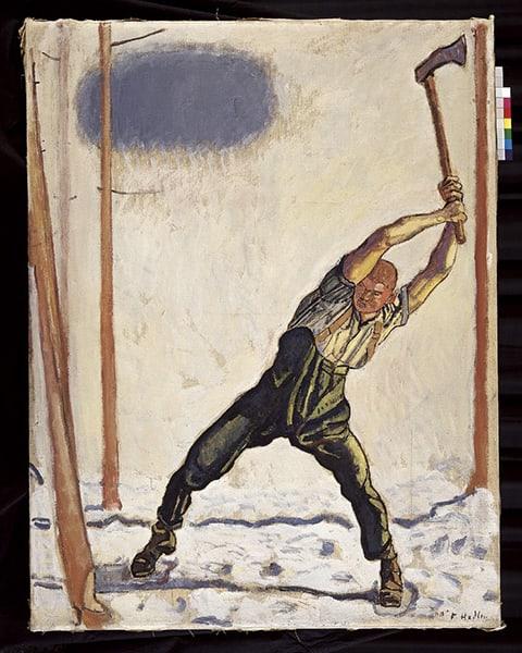 «Holzfällers» (1910) von Ferdinand Hodler
