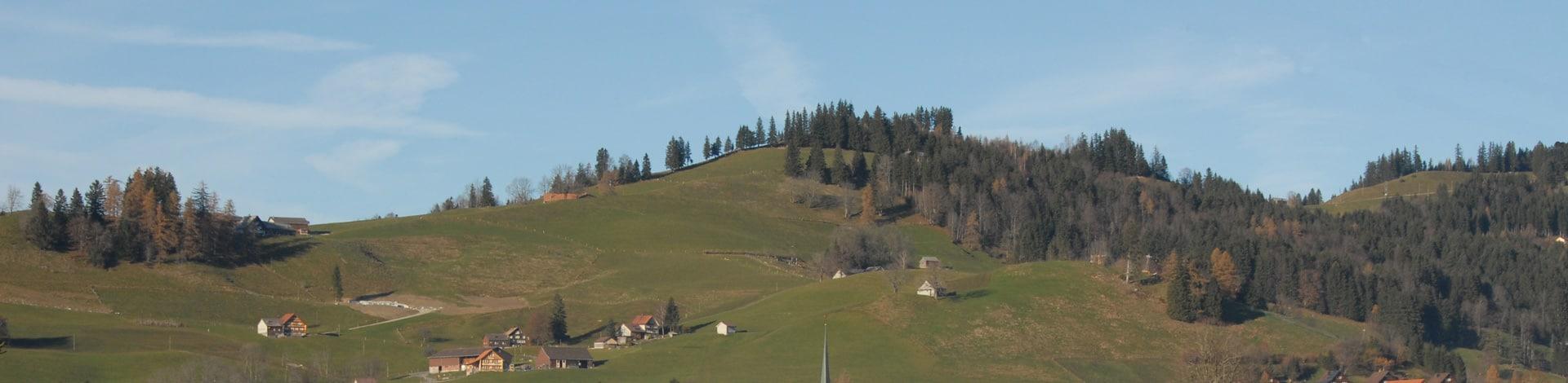 paysage dans la région d'Appenzell Rhodes-Extérieures