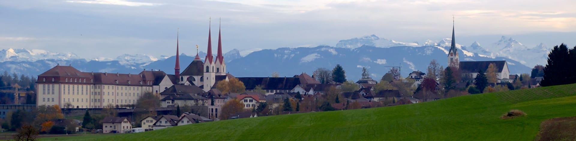 vue sur la montagne dans la région du Freiamt