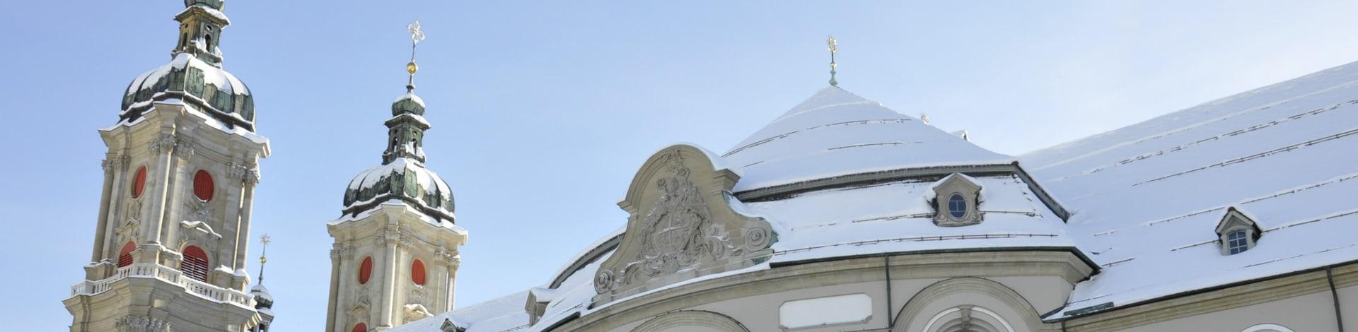 Haus mit Schnee in St. Gallen