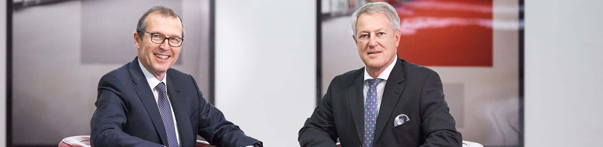 Markus Hongler, CEO; Urs Berger, président du Conseil d'administration