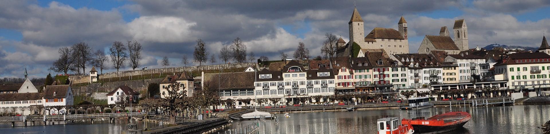 Aussicht auf Stadt Rapperswil