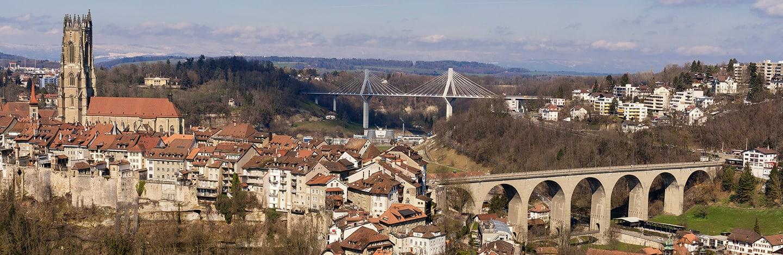 vue sur la centre-ville de Fribourg