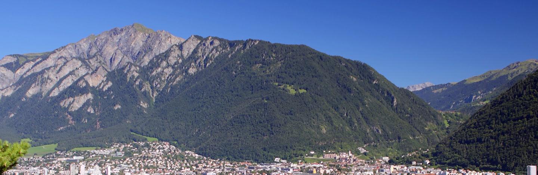 montagne dans la région de Coire