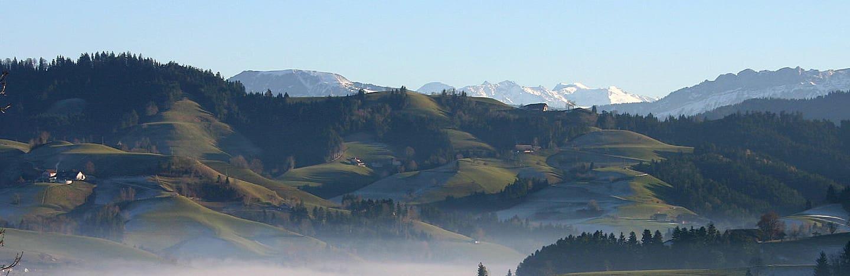 Hügel bei Willisau-Entlebuch