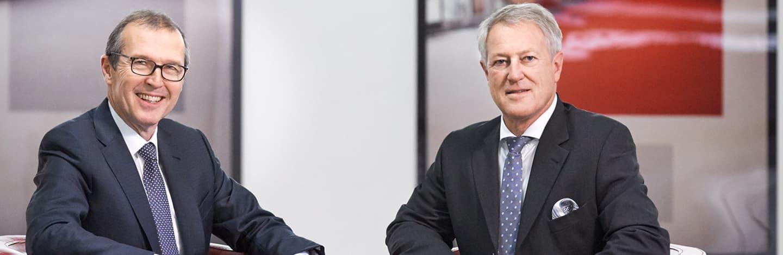 Markus Hongler, CEO; Urs Berger, Verwaltungsratspräsident