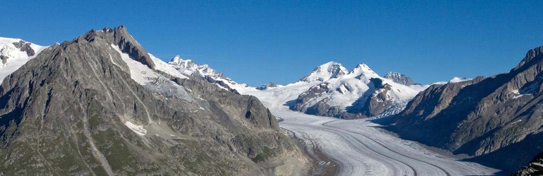 Blick auf Aletschgletscher