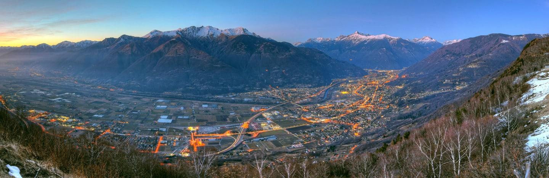 Aussicht auf Bellinzona